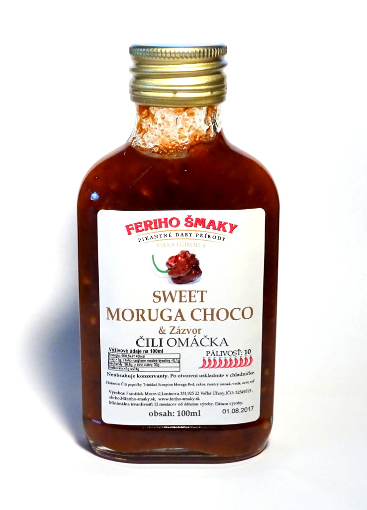 Sweet Choco Moruga omáčka so zázvorom 100ml
