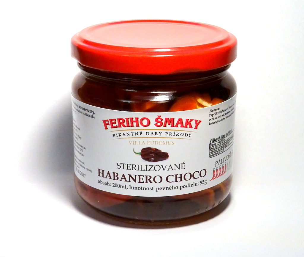 Sterilizované Habanero Chocolate 212ml