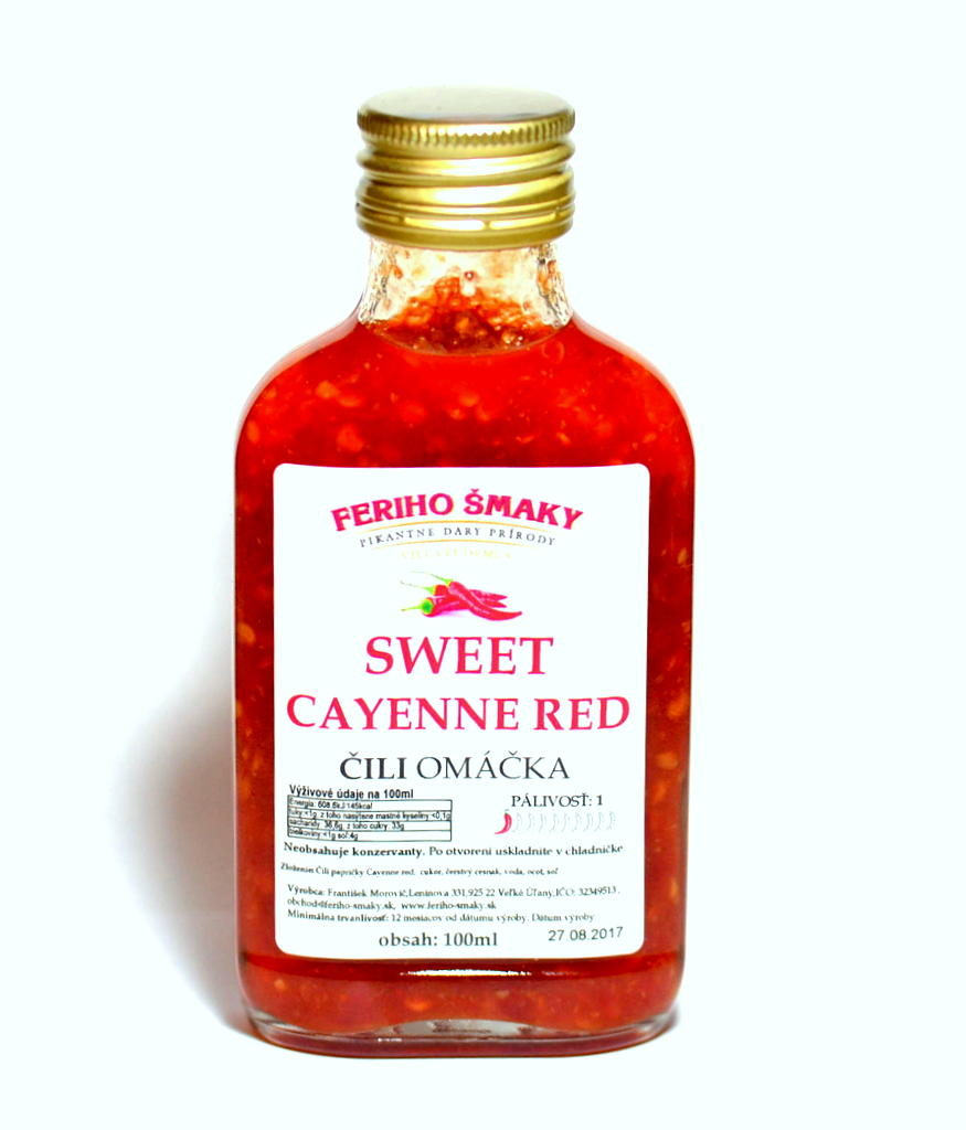 Sweet Cayenne red s cesnakom 100ml