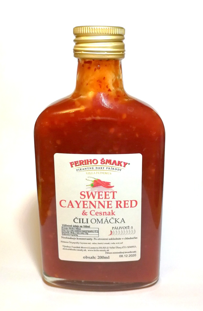 Sweet Cayenne red s cesnakom 200ml